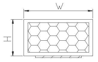 Rectangle section of EMI shielding gaskets